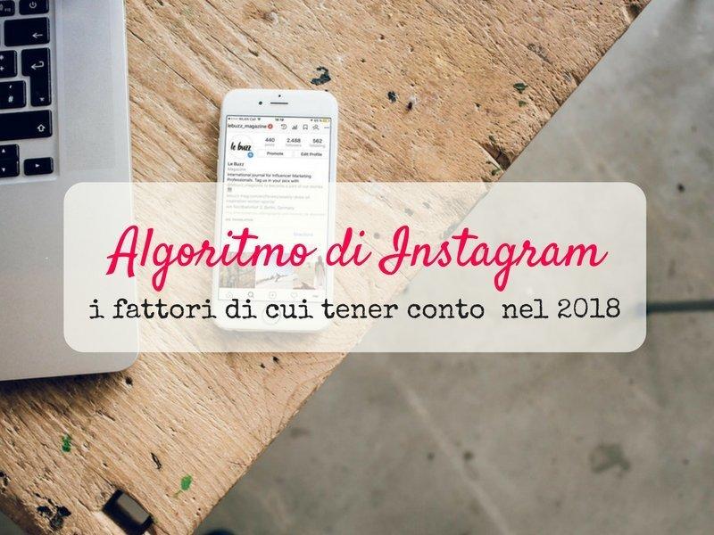 Come funziona l'algoritmo di instagram 2018