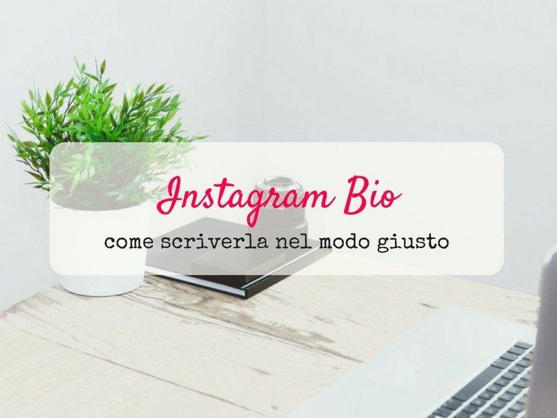 come scrivere la biografia su Instagram